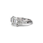 3.43ctw Emerald Cut Diamond 5-stone ring by Leon Mege GIA F SI1
