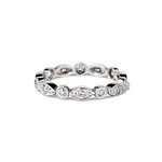 Old European cut diamond eternity band by Single Stone